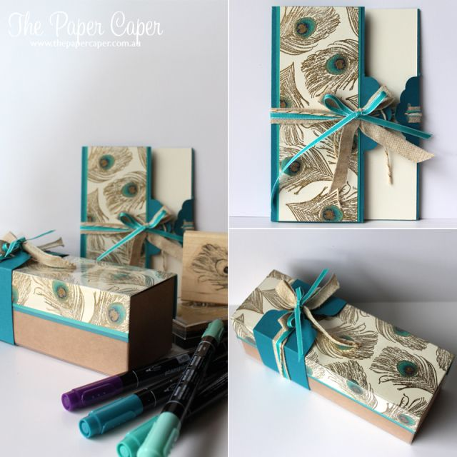 Fine Feathers card and gift box set www.thepapercaper.com.au