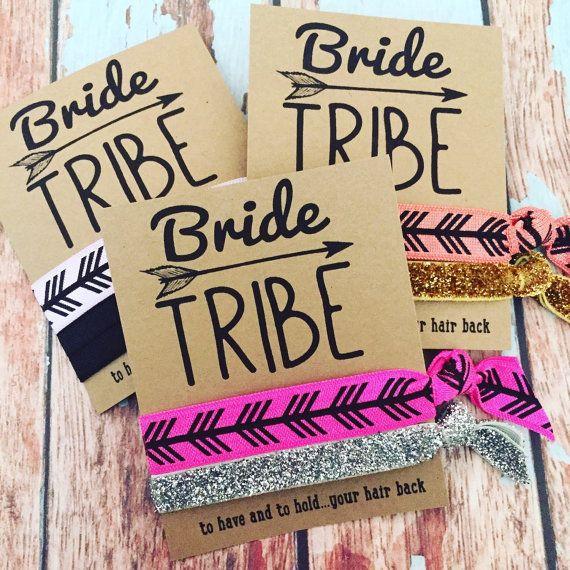 Bride Tribe Bachelorette Party Favors Hair by ElasticHairBandz