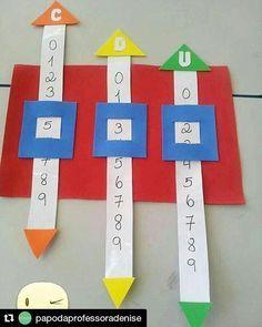 """#matemática #matemáticanaescola #alfabetizaçãomatemática #pedagogia ◾◾◾ #Repost @papodaprofessoradenise (@get_repost) ・・・ Puxa-puxa da unidade, dezena e centena! Trabalhando o valor posicional com diversão! Sorteie um número e escreva na máquina puxa-puxa de #números! ▶Com essa """"brincadeira"""" a #criança aprende a escrita de números acima de dez, ajudando na compreensão do sistema de numeração decimal! Estimule a criança a pensar!!! ▶Quer mais dicas e ideias sobre educação? Aces..."""