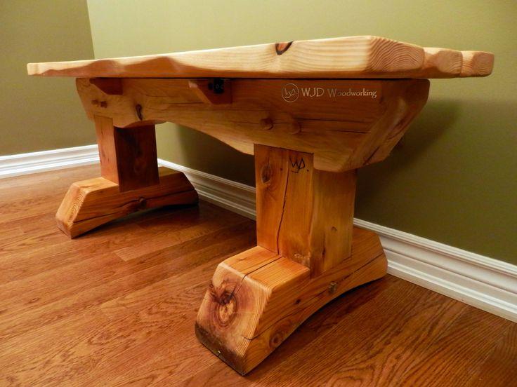 Red Cedar and Hemlock Timber Frame Bench
