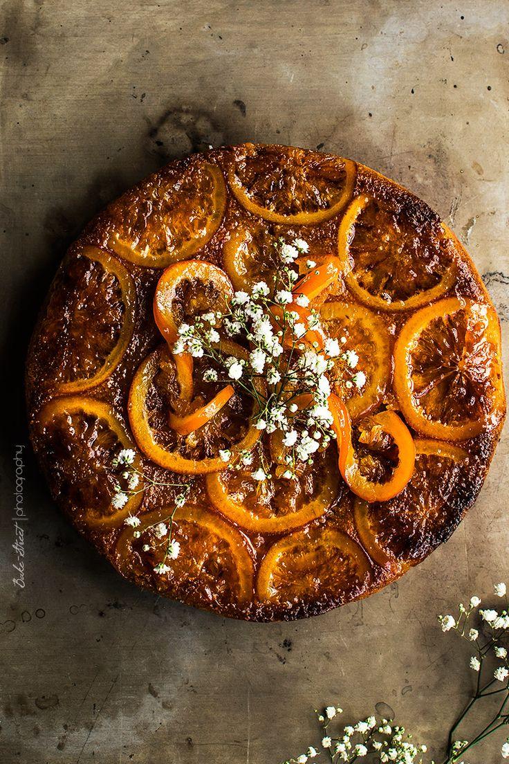 Bizcocho invertido de naranja sanguina - Bake-Street.com
