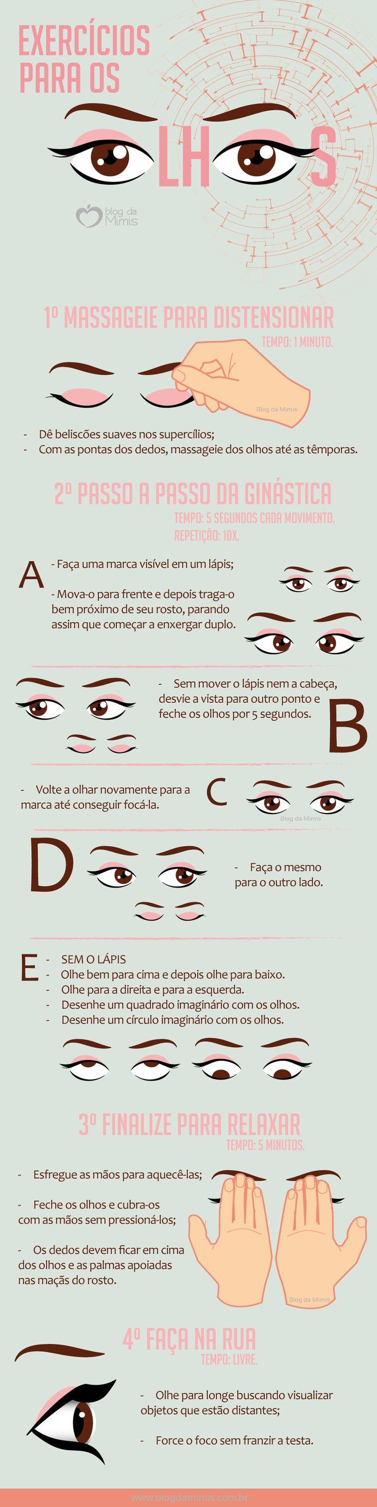 Exercícios para os olhos: como fazer e seus benefícios - Blog da Mimis #exercício #ocular #olhos