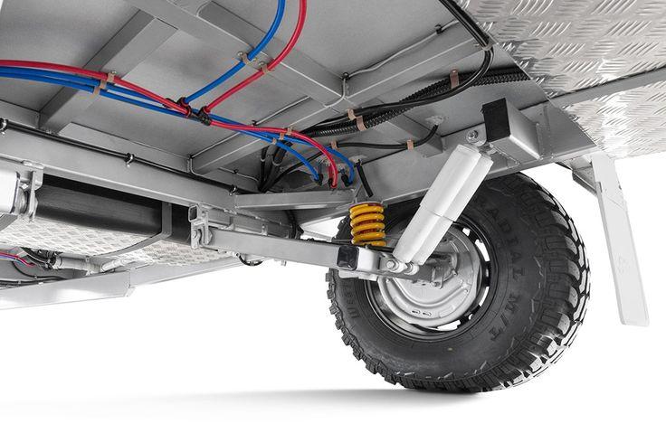 Heavy duty axle and shockers