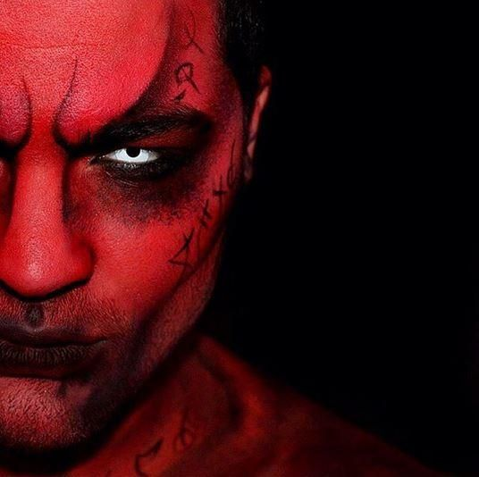 halloween makeup demon