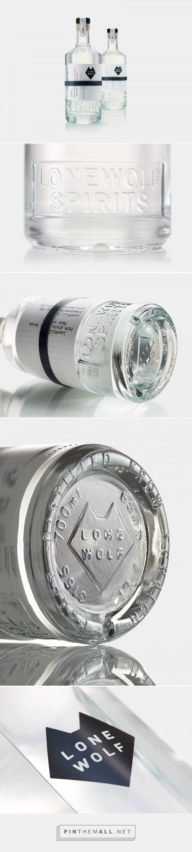 LoneWolf gin & vodka packaging design by B&B studio - http://www.packagingoftheworld.com/2017/05/lonewolf.html - created via https://pinthemall.net