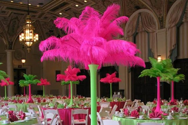 Centros de mesa para Carnaval: Feather Centerpieces, Spandex Cover, Ostrich Feathers, Color, Wedding Ideas, Centers, Table, Party Ideas