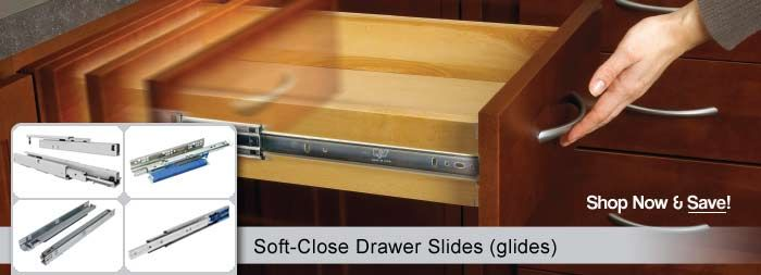 Soft-Close Drawer Slides - For the built in media cabinet & book shelves in my tiny home.
