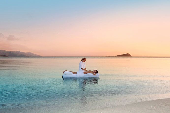 Indulge in a massage smack bang in the middle of the ocean at One & Only Hayman Island #thisisqueensland