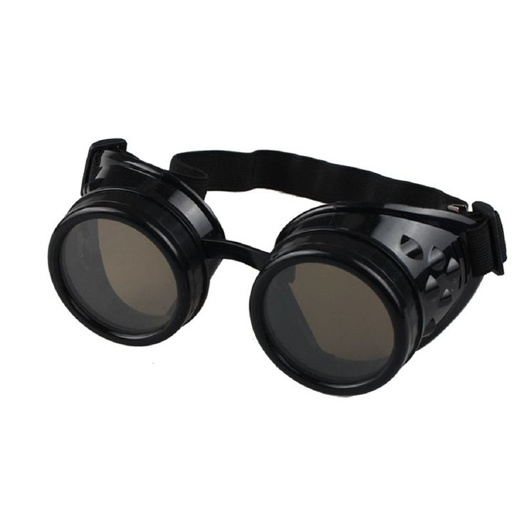 Buy Ultra New Black with Brown Lenses Premium Quality Steam punk Cyber goggles at £7.99 from UKs large online store.