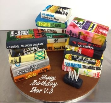 When Literature Nobel Prize winner V S Naipaul celebrated his 80th Birthday recently it was Konditor & Cook who was given the task of re-creating a stack of his works. This time not just a feast for bookworms but cover to cover a feast for cake lovers too