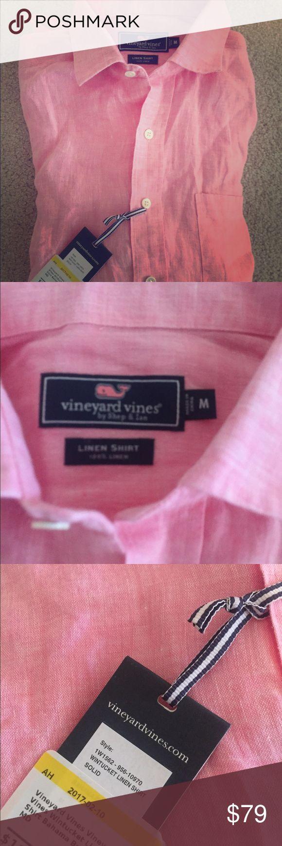 NWT vineyard vines wintucket linen shirt medium Gorgeous linen shirt! New with tags :). Size medium men's. Bahamas breeze color. Vineyard Vines Shirts Casual Button Down Shirts
