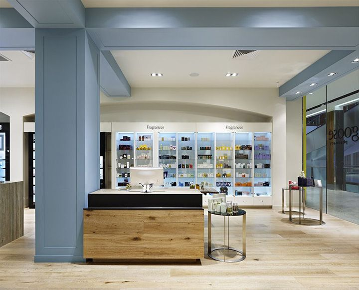 RED Design Groups designs for Blue Goose Pharmacy have been featured in the well known Retail Design Blog. Love the mix of the vintage feel of this pharmacy with the modern twist.