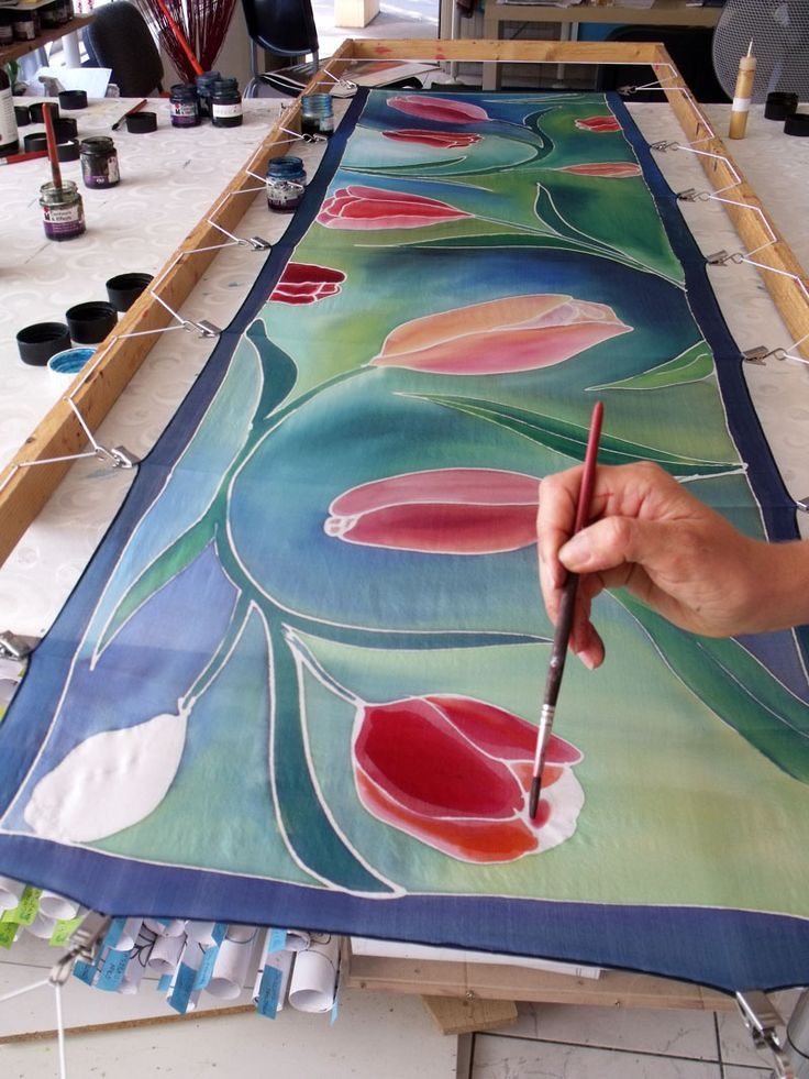 http://silkywaysilk.com Hand painted silk scarves from Budapest.                                                                                                                                                                                 More
