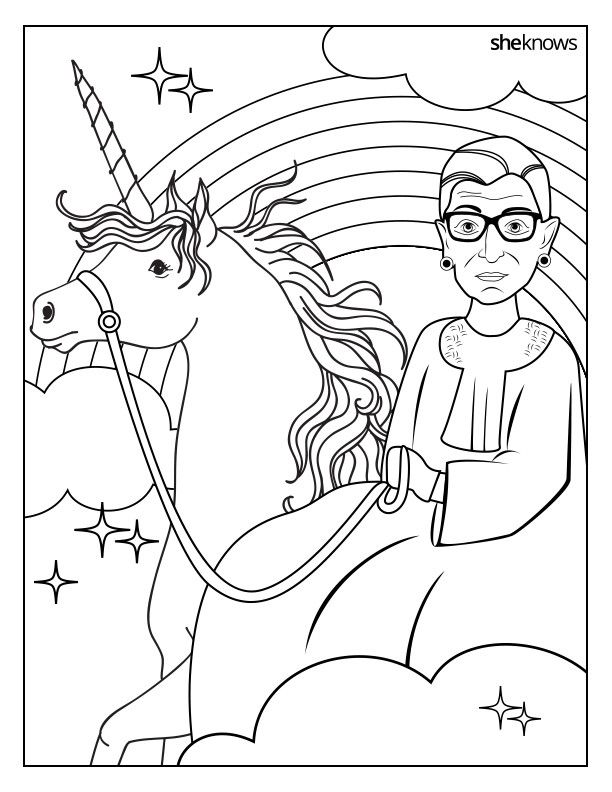 celebrate the notorious rbgs birthday with this printable coloring book shes straight up fantasy