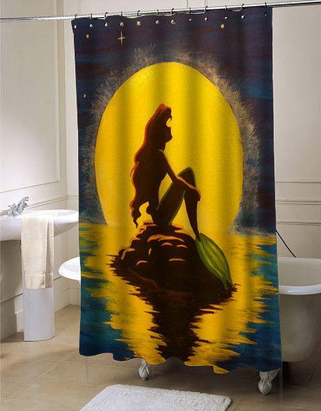 ariel the little mermaid shower curtain customized design for home decor