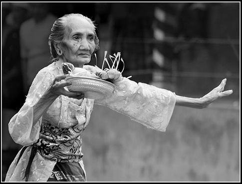 pendet dance by older woman   More About Indonesia