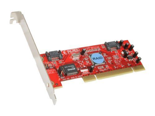 Rosewill RC-201 32 bit, 33/66MHz PCI SATA RAID Low Profile PCI Host RAID 0/1 by Rosewill. $18.49. Model    Brand: Rosewill    Model: RC-201Specifications    Type: SATA    Internal Connectors: 2 x Serial ATA 150    Interface: 32 bit, 33/66MHz PCI    Transfer Rate: 1,500Mbps    RAID: RAID 0/1    Operating Systems Supported: Windows 98SE/ ME/ NT 4.0/2000/XPFeatures    Features: Dual high speed Serial ATA interface ports...