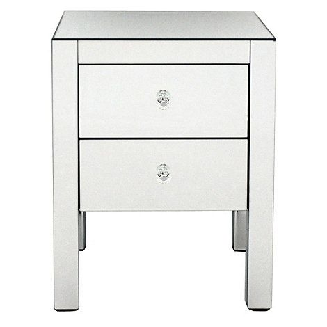 Debenhams Mirrored bedside cabinet with 2 drawers- | Debenhams £450 down to £180