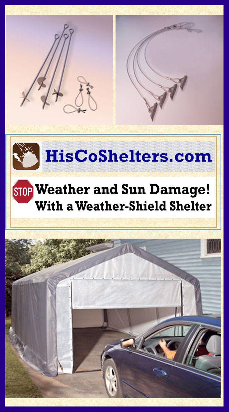 Portable Anchor On A Concrete Garage : Images about portable garage carport shelter