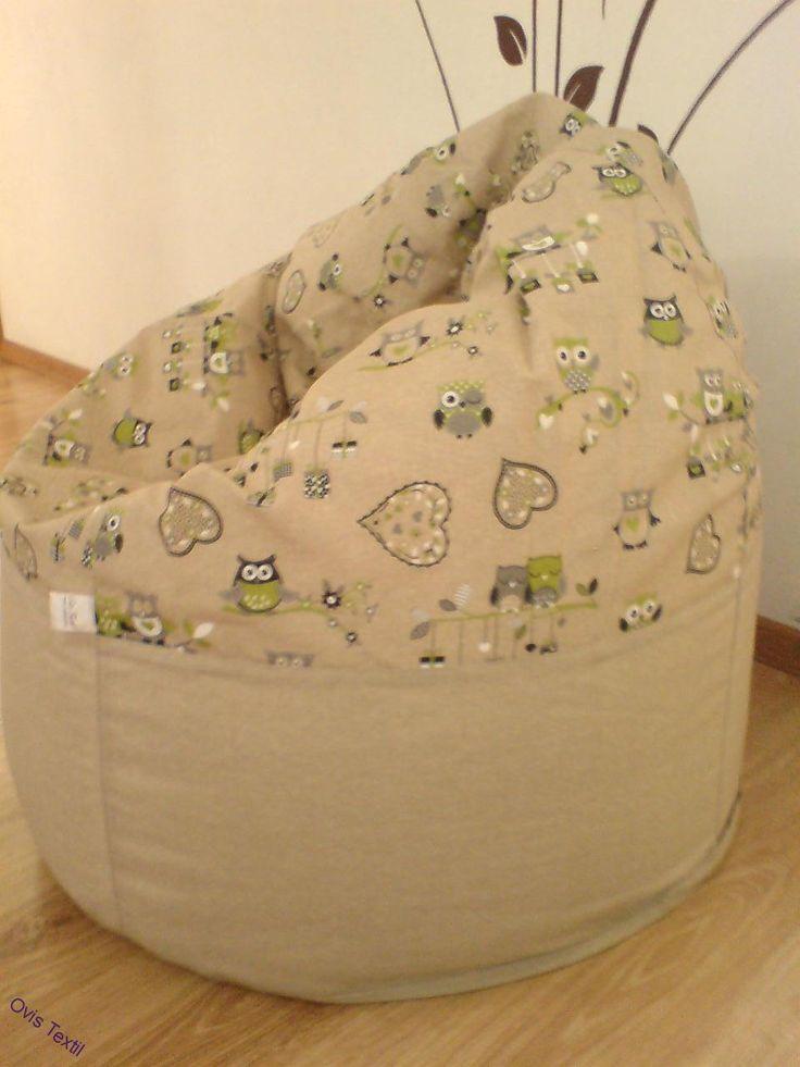 BAGLYOS Közepes babzsák fotel-osztott kivitel
