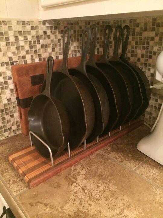 Cast iron storage rack