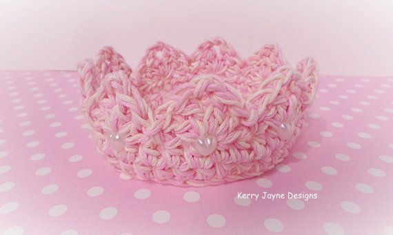 Crochet tiara crown. Mixed coloured yarn.   Hey, I found this really awesome Etsy listing at https://www.etsy.com/uk/listing/187830611/crochet-crown-pattern-princess-charlotte