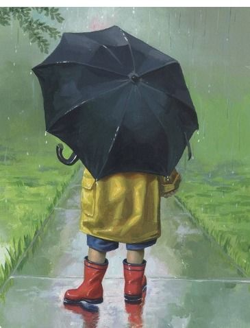 """My heart melts at the sight of little ones in rain boots! (or as I used to call them when I was young """"golashes!"""")"""