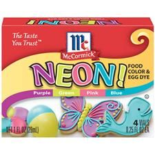 Chart telling you how to achieve other neon, and exotic colors, by mixing these.