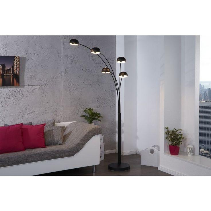 Moderne vloerlamp 5 lichten zwart - 11299