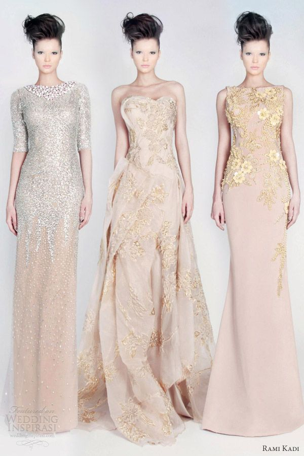 rami kadi couture 2013 color dresses blush pink pale nude flesh