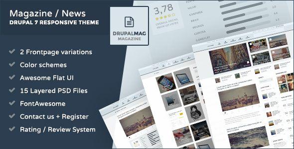 DrupalMag Premium Responsive Drupal 7 News Theme