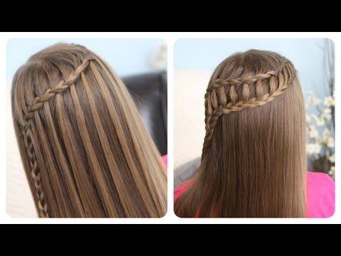 Feather Waterfall & Ladder Braid Combo... two gorgeous #hairstyles in one video!  5-8 minutes {Feel free to share!} #WaterfallBraid and the #LadderBraid Combo!