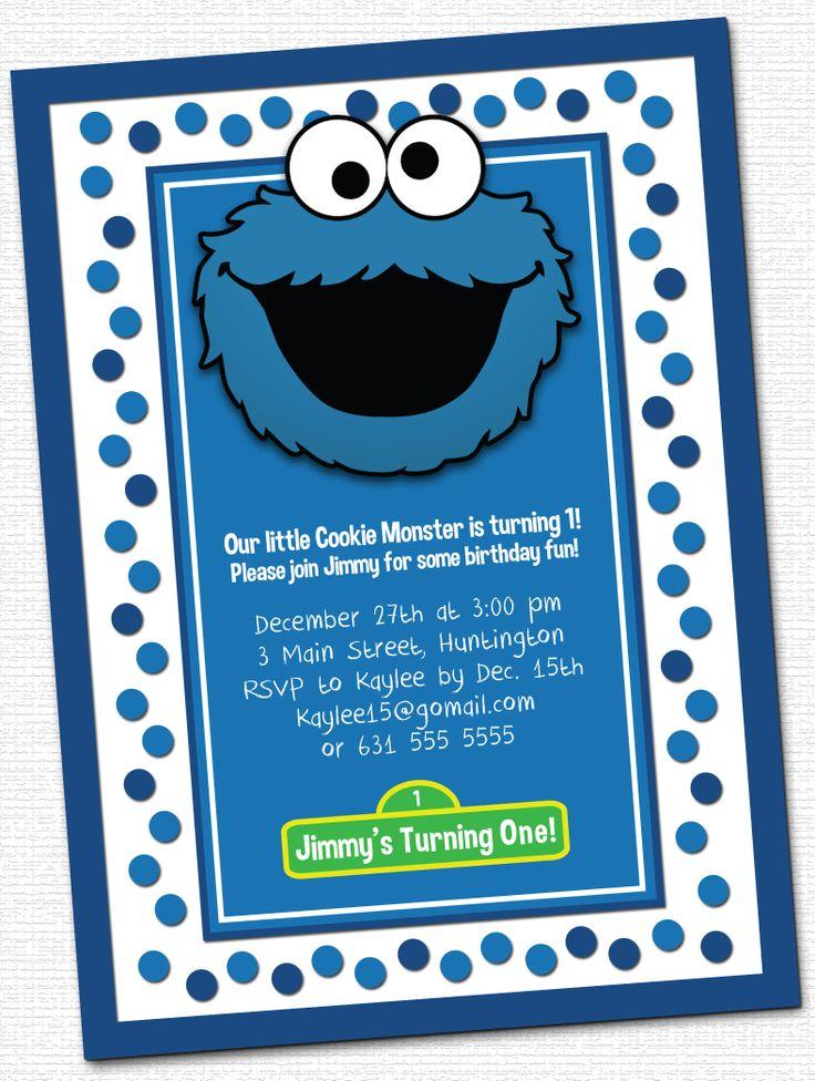 Cookie Monster Invitations www.christimariecreative.com ...
