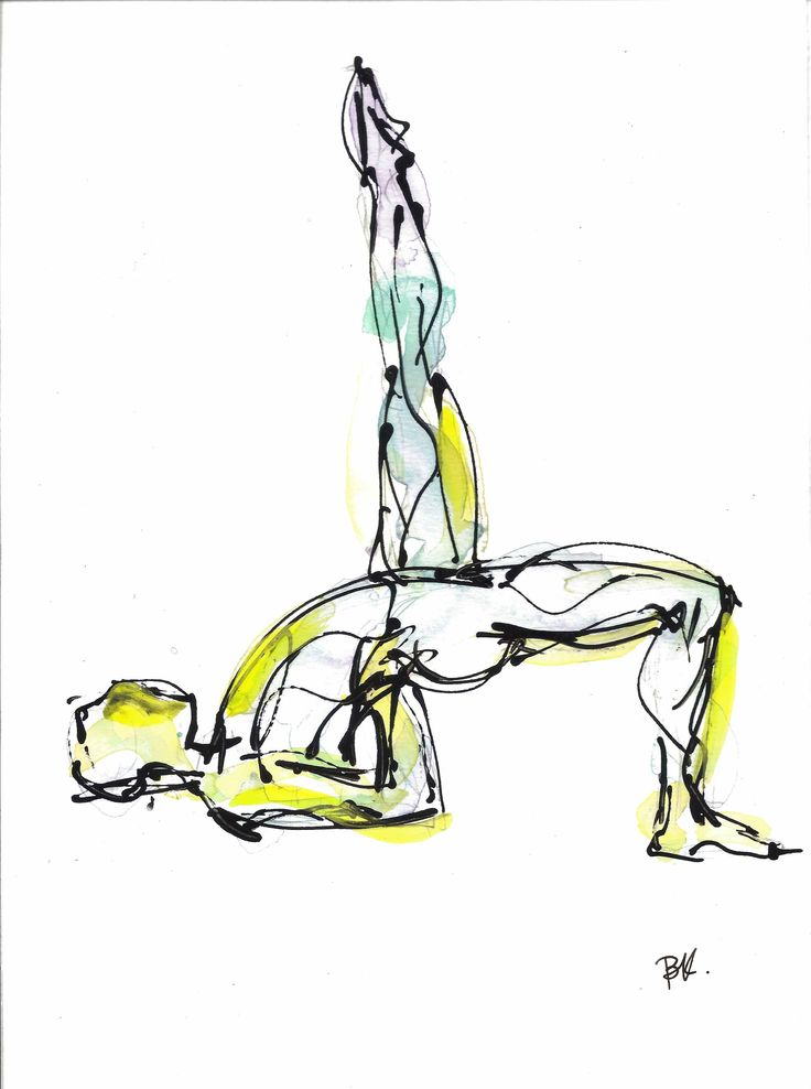 Setu Bhandasana, available on http://fineartamerica.com/featured/setu-bhandasana-boryana-korcheva.html, #yoga, #kapotasana, #yogaart