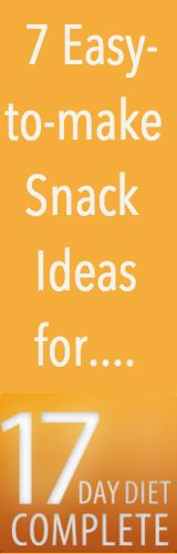 Feeling hungry while on the 17 day diet and don't know what you can snack on? Get ideas here...
