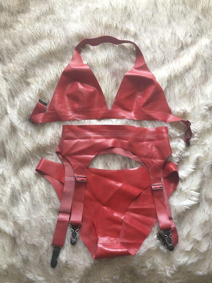 William Wilde Red Latex Underwear Set Size S in Clothes, Shoes & Accessories, Erotic Clothing, Women's Underwear   eBay