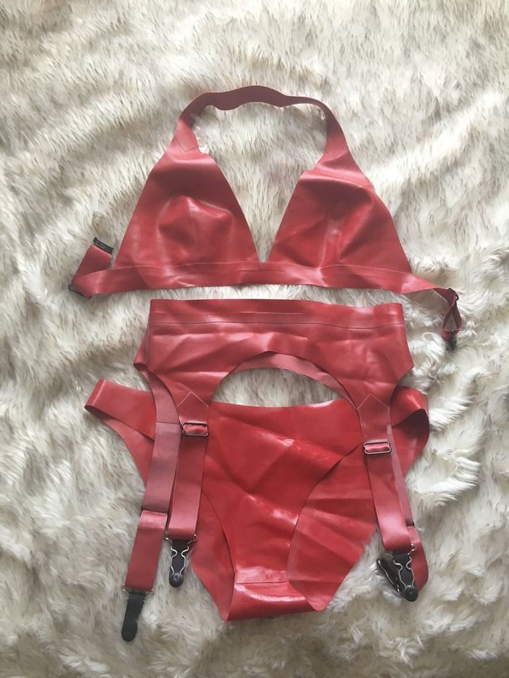 William Wilde Red Latex Underwear Set Size S in Clothes, Shoes & Accessories, Erotic Clothing, Women's Underwear | eBay