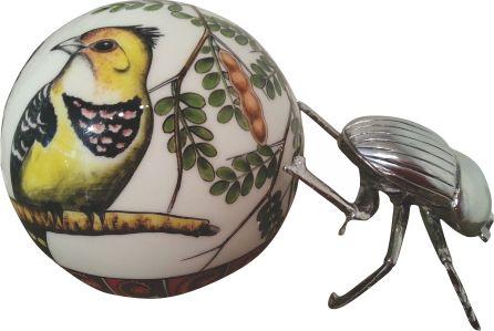 Dung Beetle Crested Barbet - Large Ball - ZAR3400.00