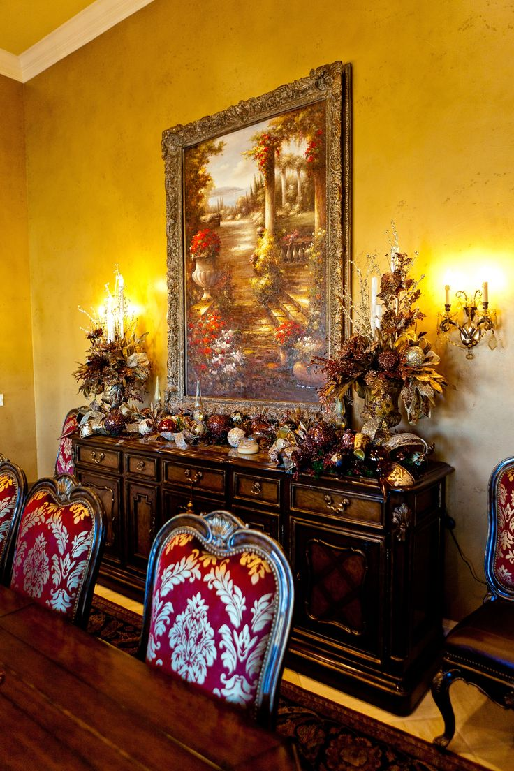 42 Best Images About Christmas Formal Dining Rooms On Pinterest Christmas D
