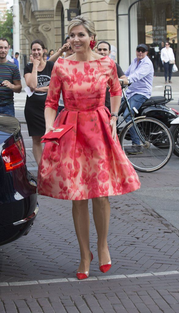 Queen Maxima's Red Natan Dress at Holland Festival 2016 | POPSUGAR Fashion