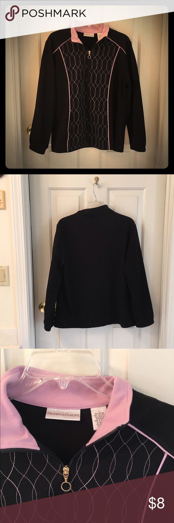 Beautiful Zip Up Sweater Zip up sweater, beautiful pattern, like new, size L Drapers & Demons Sweaters Cardigans
