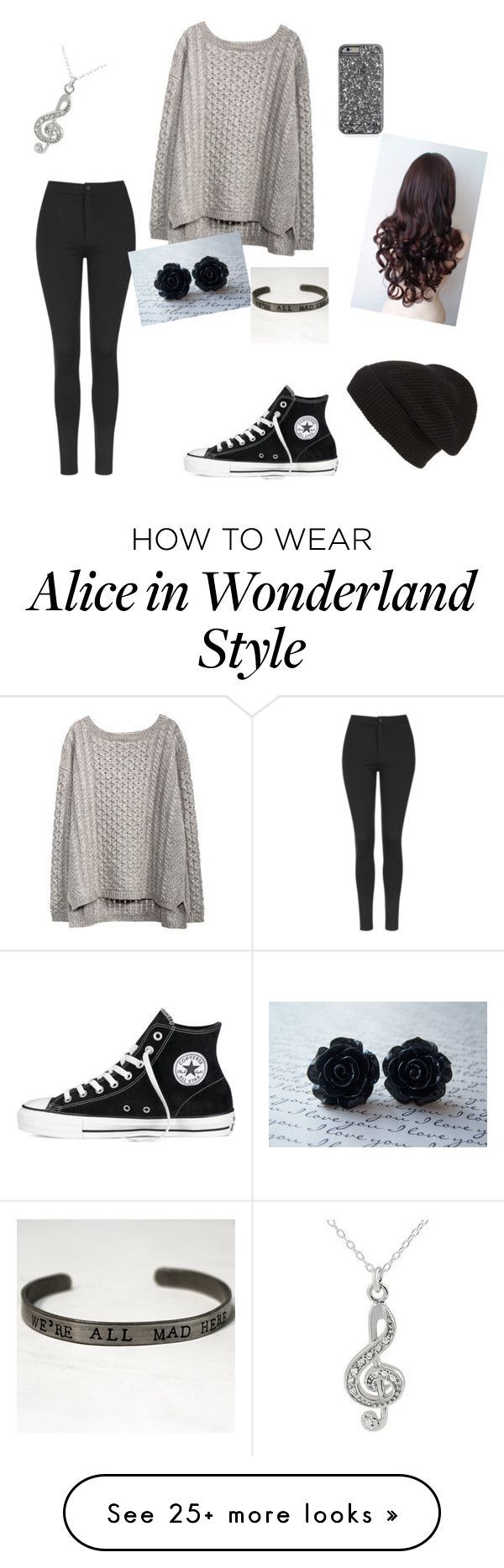 """Untitled #1"" by leiamccloud on Polyvore featuring Topshop, Converse, Phase 3 and Journee Collection"