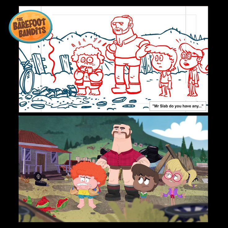 animation::cartoon::illustration::character design::art::design::drawing::sketch::mukpuddy::mukpuddy animation::the barefoot bandits::tvnz::nz on air::tv2::new zealand::animated::model sheet::storyboard