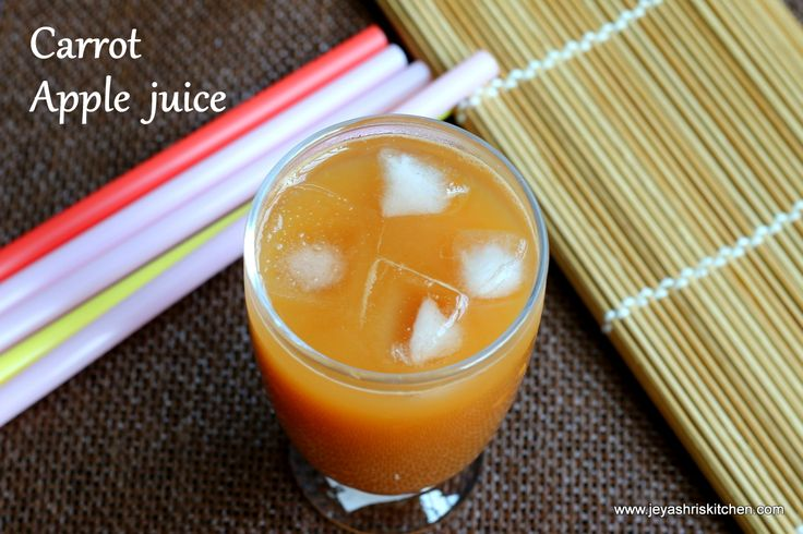Apple and carrot juice - http://www.jeyashriskitchen.com/2014/03/apple-carrot-and-ginger-juice-summer.html