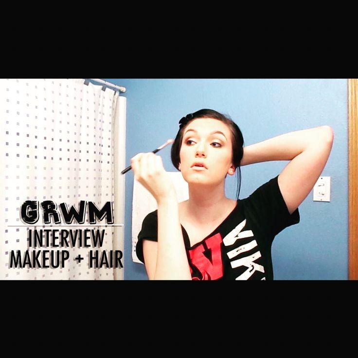 Job interview hair and makeup tutorial!