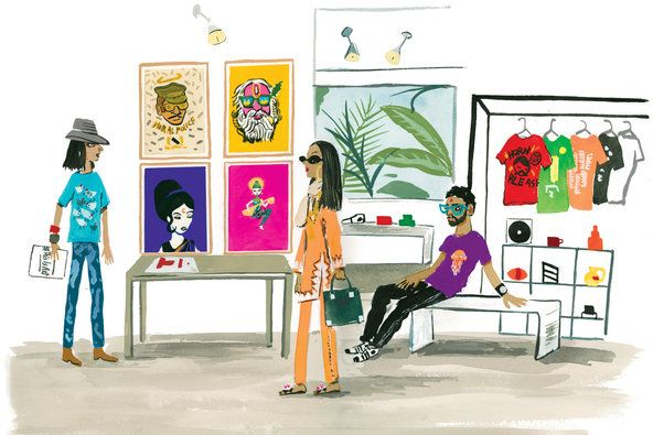 capturing the trendy side of India (illustration by Konstantin Kakanias)