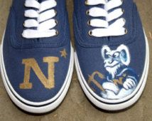 Navy Shoes (Lady Navy Shoes)- Navy Rams, Go Navy, Blue and Gold