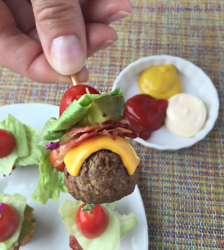 I made these little Bacon Cheeseburger Bites with a pickle instead of a tomato & while baking I basted with (Budweiser) BBQ sauce. Mouth-watering ~ vk.
