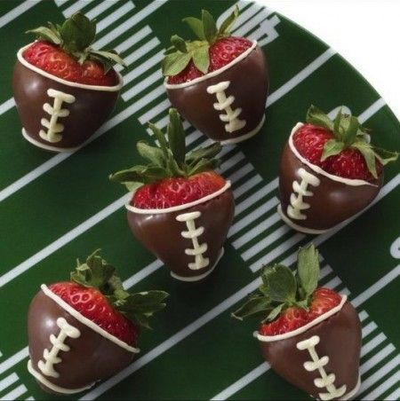 Chocolate Covered Strawberry Footballs Recipe Dishmaps