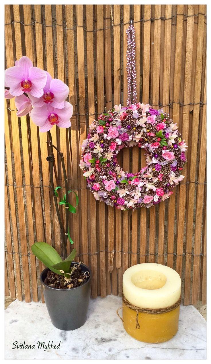 1000 id es propos de couronne violette sur pinterest for Decoration porte entree pour mariage